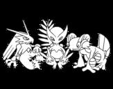 Dibujo de Pokémons para colorear