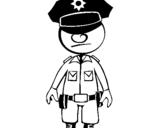 Dibujo de Policía para colorear