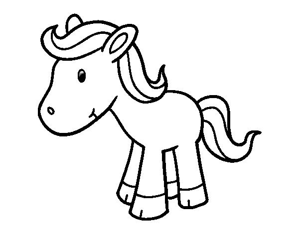 Dibujo de Poni feliz para Colorear - Dibujos.net