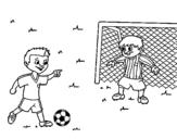 Dibujo de Portero de fútbol para colorear