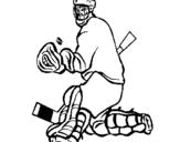 Dibujo de Portero parando el disco para colorear