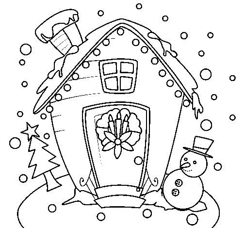 Dibujo de Postal de navidad para Colorear
