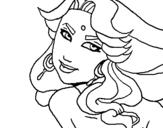 Dibujo de Princesa amazónica para colorear