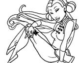 Dibujo de Princesa ninja