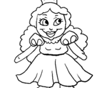 Dibujo de Princesa pequeña