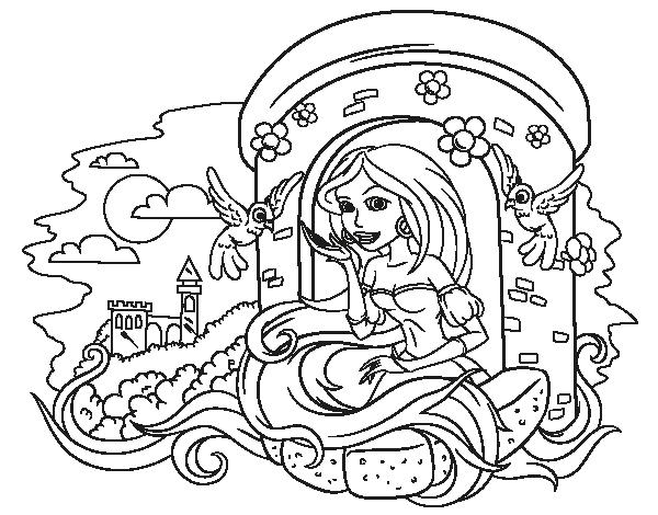 Dibujos Para Colorear De Rapunzel Bebe: Dibujos Princesa Rapunzel Para Colorear