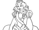 Dibujo de Princesa real para colorear