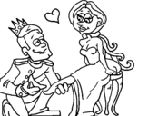 Dibujo de Princesa sin zapato para colorear