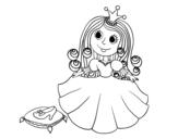 Dibujo de Princesa y zapato de cristal