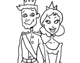 Dibujo de Príncipe y princesa