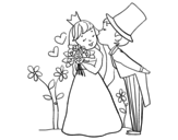 Dibujo de Príncipes recién casados