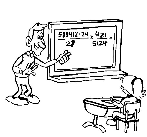 Dibujo de Profesor de matemáticas para Colorear