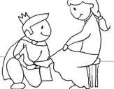 Dibujo de Prueba del zapatito para colorear