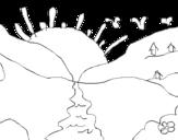 Dibujo de Puesta de sol