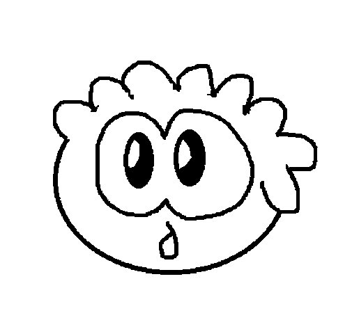 Dibujo de Puffle 2 para Colorear