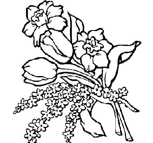 Dibujo de Ramo de flores para Colorear