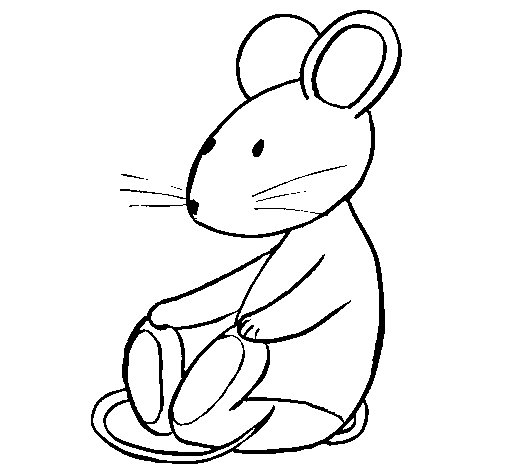 Dibujo de Rata sentada para Colorear