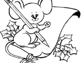 Dibujo de Ratón con lapiz y papel