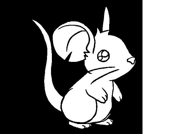 Dibujo de Ratoncito para Colorear