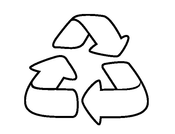 Dibujo de Reciclaje para Colorear