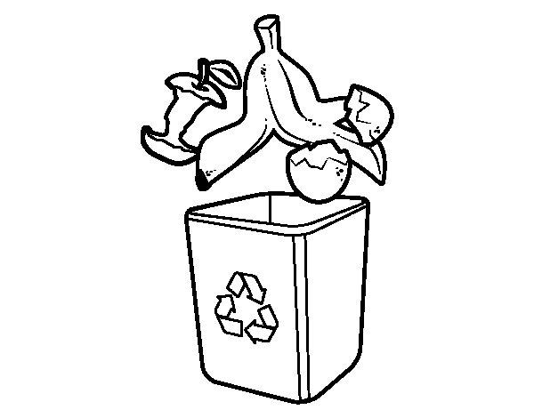 Dibujo de Reciclaje orgánico  para Colorear