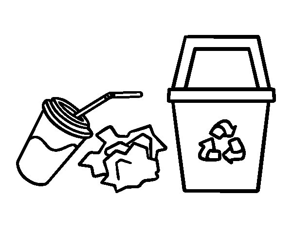Dibujo de reciclar papel para colorear - Papel de pintar ...