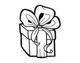 Dibujo de Regalo de Navidad para colorear
