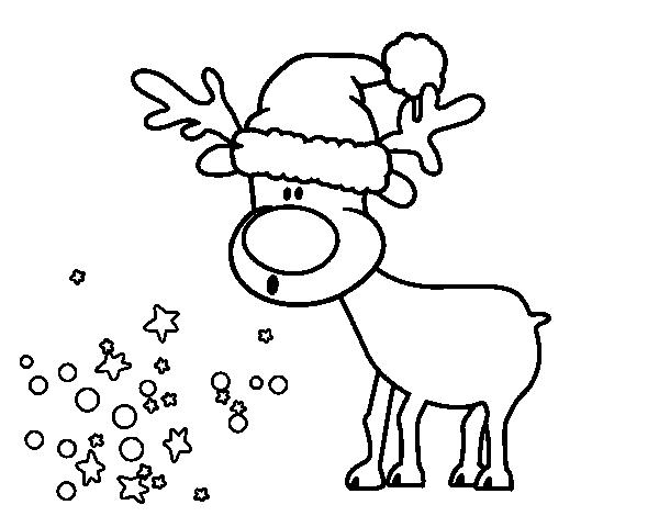 Imagenes para colorear reno imagui for Dibujos de renos en navidad