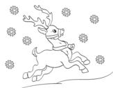 Dibujo de Reno de Navidad