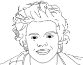 Dibujo de Retrato de Harry Styles