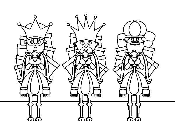 Dibujos De Los 3 Reyes Magos Para Colorear: Dibujo De Reyes Magos En Camello Para Colorear