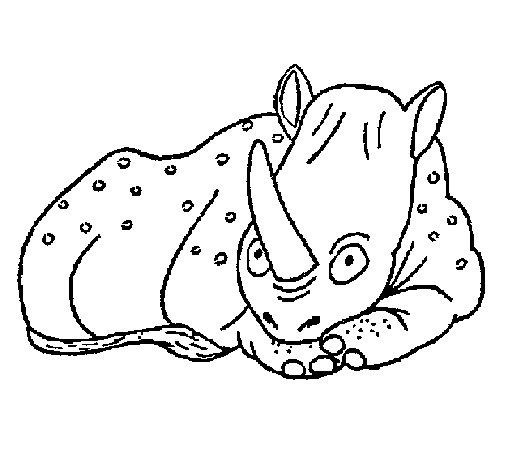 Dibujo de Rinoceronte 1 para Colorear