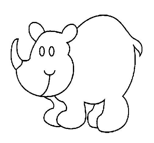 Dibujo de Rinoceronte para Colorear