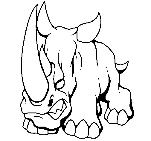 Dibujo de Rinoceronte II para Colorear