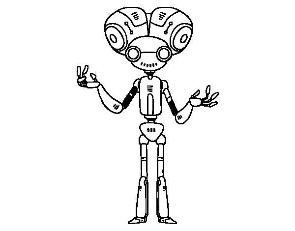 Dibujo de Robot Cabezón para Colorear