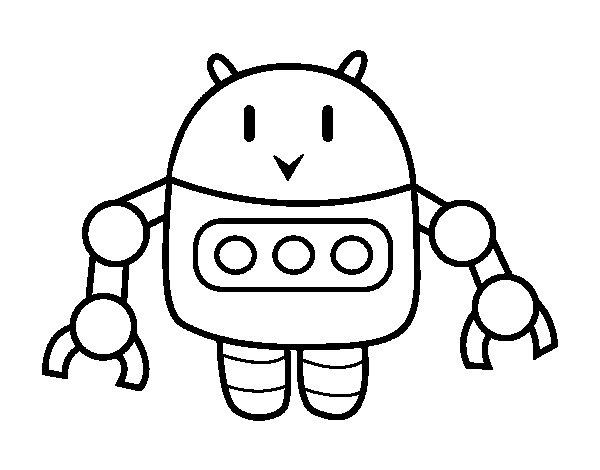 Dibujo de Robot con pinzas para Colorear