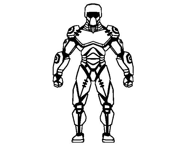 Dibujo de Robot de Cara para Colorear