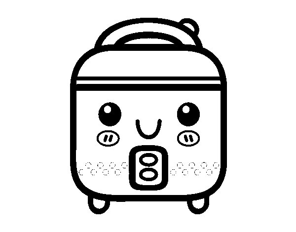 Dibujo de robot de cocina para colorear for Dibujos sobre cocina