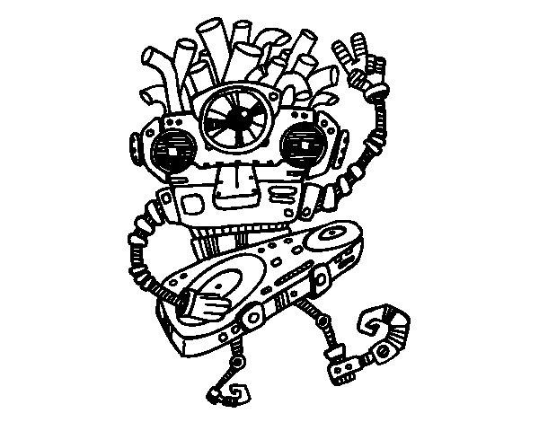 Dibujo de Robot DJ para Colorear