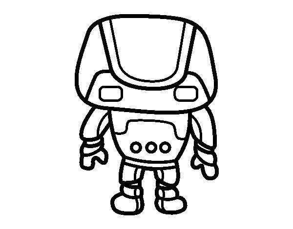 Dibujo de Robot fuerte para Colorear