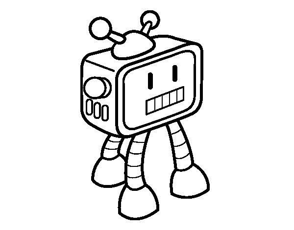 Dibujo de Robot televisivo para Colorear