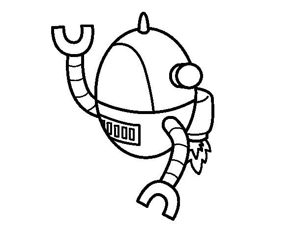 Dibujo de Robot volando para Colorear