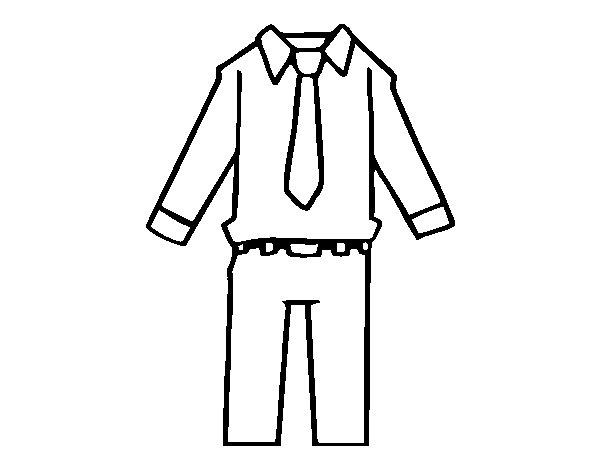 Dibujo de Ropa de hombre para Colorear - Dibujos.net