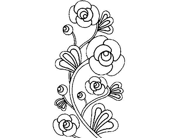 Dibujo de Rosaleda para Colorear