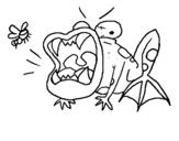 Dibujo de Sapo hambriento para colorear