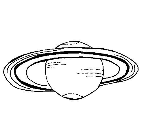 Dibujo de Saturno para Colorear