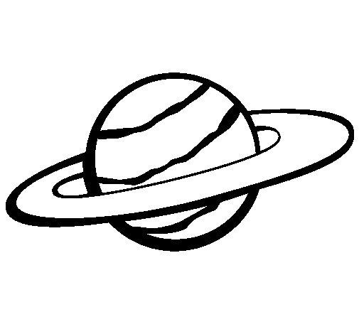 Dibujo de Saturno II para Colorear
