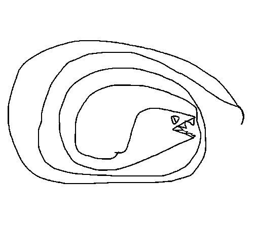 Dibujo de Serpiente 2 para Colorear