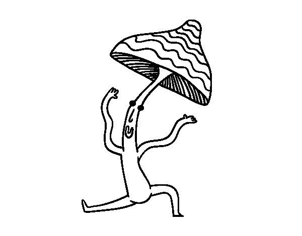 Dibujo de Seta haciendo gimnasia para Colorear