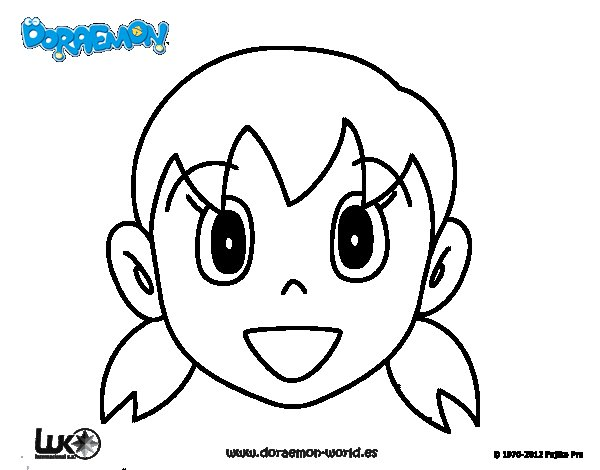 Dibujo de Shizuka para Colorear